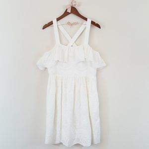 Madewell White Embroidered Floral Cotton Dress 12